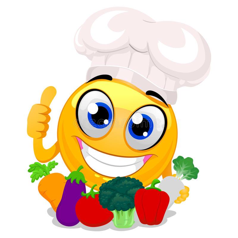 chef-de-port-hat-de-smiley-emoticon-tenant-des-légumes-90430287